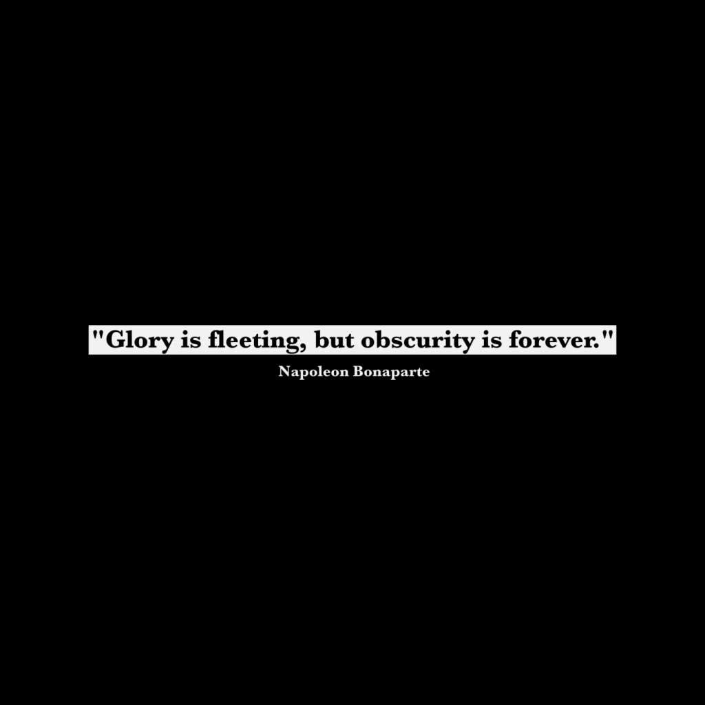 Glory is Fleeting But Obscurity is Forever Napoleon Bonaparte Quote Womens Vest