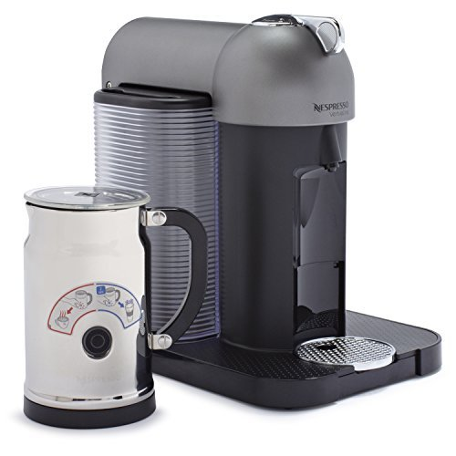 Nespresso VertuoLine with Aeroccino Plus A+GCA1-US-BM-NE, Titan Gray