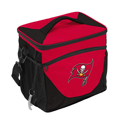 - Logo Brands NFL Tampa Bay Buccaneers 24 Can Cooler, One Size, Navy