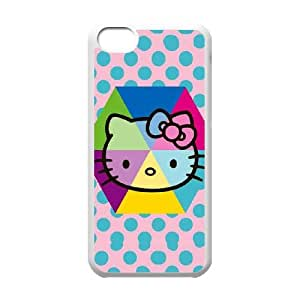iPhone 5C Phone Case White Hello Kitty Spots SK4C3ULE Tactical Cell Phone Case