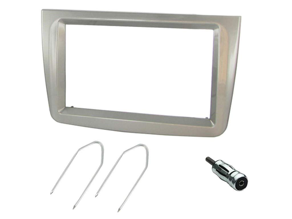 Alfa Romeo Mito Double Din Car Stereo Facia Fitting Kit CT23AR04 Silver