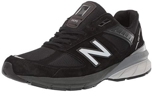 New Balance Men's 990v5 Sneaker, Black/Silver, 13 XW US