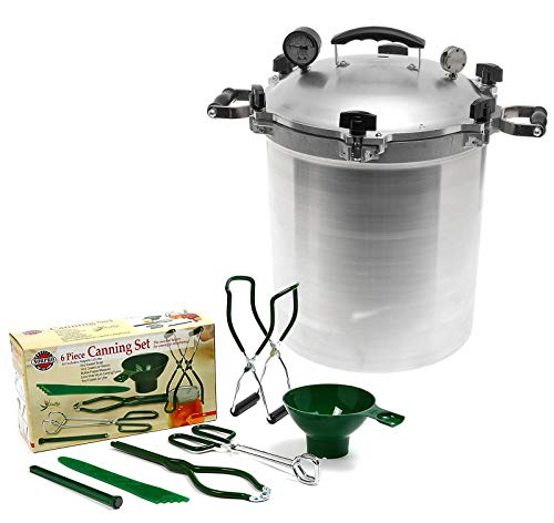 All American 30 QT Pressure Cooker Bundle with 2 Racks and N