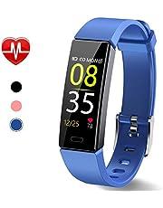 Dwfit Fitness Uhr mit Pulsmesser,Wasserdicht Fitness Armband Aktivitätstracker Fitness Tracker Schrittzähler Uhr Sportuhr für iOS Android Handy