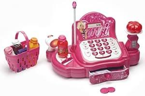 Caja registradora interactiva con accesorios, color rosa