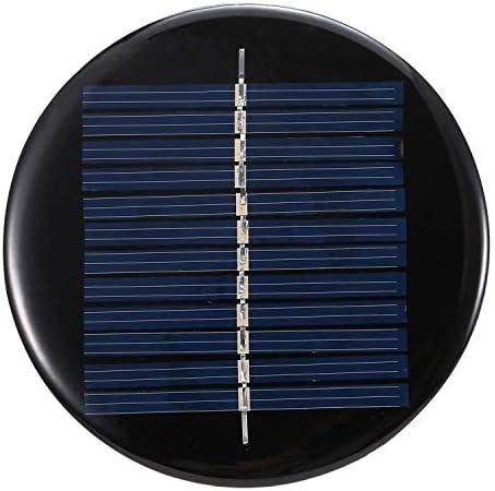 Hylotele 0,5 W 6 V Solarpanel Polykristallines Silizium Solarzelle DIY Wasserdicht Camping Portable Power Solarpanel Kompatibel für Spielzeug Licht Lampe Lüfter Gartenpumpe Polykristallines Silizium-