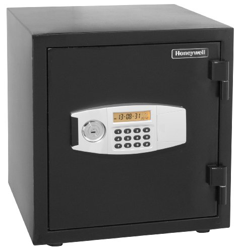 - HONEYWELL - 2115 Steel 2 Hour Fireproof and Water Resistant Security Safe with Dual Digital Lock and Key Protection, 1.23-Cubic Feet, Black