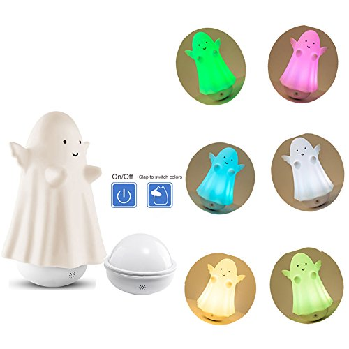 Olens Baby Kids LED Night Light Lamp, Cute Silicone Soft Nursery Lamp Gift Toy for Children Toddler Boys Girls for a Good Night's Sleep, Tap Control, Warm White & 7-Color Breathing by Olens
