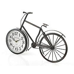 Vintage Bicycle Clock Rustic Design - Large Desk or Mantel Clock