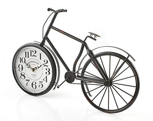 Vintage Bicycle Clock Rustic Design - Large Desk or Mantel -