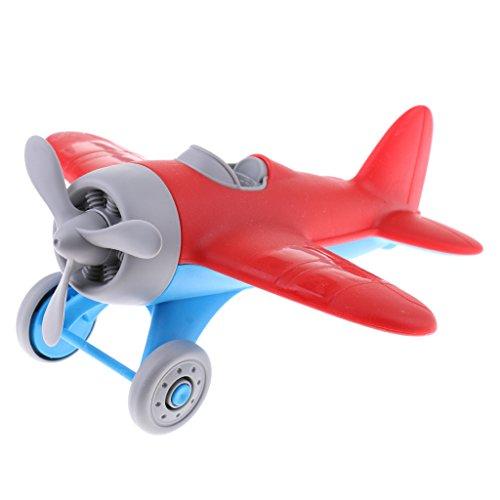Kesoto 耐久 慣性 プロペラ 飛行機モデル 航空機 おもちゃ 子ども ギフト 玩具 全2色選択 プラスチック製 - 赤