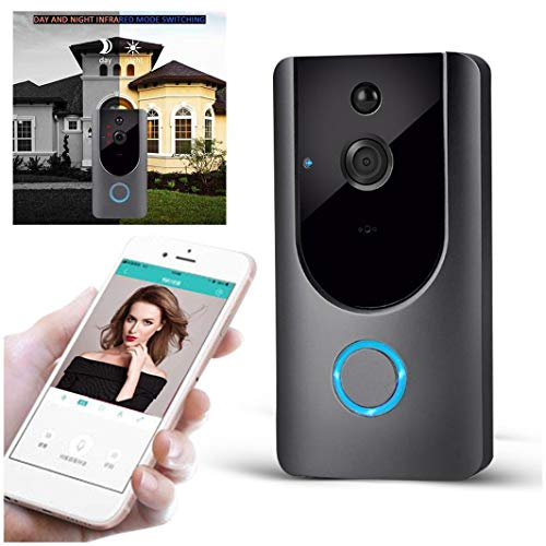 Smart Wireless Video Doorbell Night Vision WiFi HD Security Camera PIR Motion Detection Real-time Video and Two-Way Talk