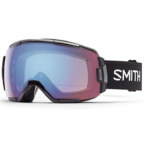 Smith Optics Vice Adult Spherical Series Snow Snowmobile Goggles Eyewear - Black/Blue Sensor Mirror / Medium