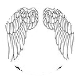alfombrilla de ratón alas del tatuaje - ronda - 20cm