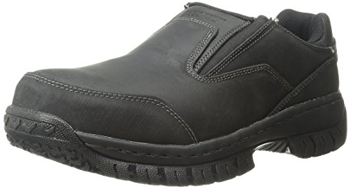Skechers for Work Men's Hartan Slip-On Shoe, Black, 12 M US