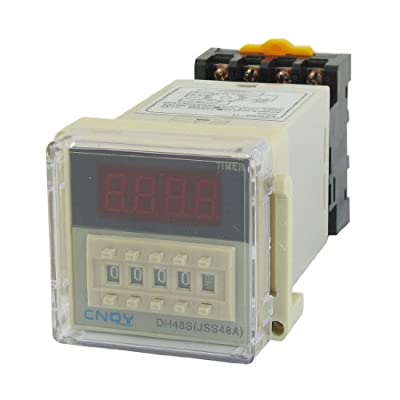 uxcell DH48S-11 Power on Time Delay Relay 11-Pin DPDT 0.01S-99H99M AC 110V