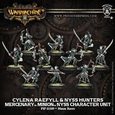 Privateer Press - Warmachine - Mercenary: Cylena Raefyll and Nyss Hunters Model Kit