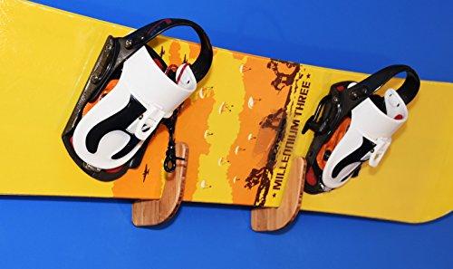 Bamboo Snowboard Wall Rack for 1 Snowboard or Skateboard Grassracks Moloka'i Show Off