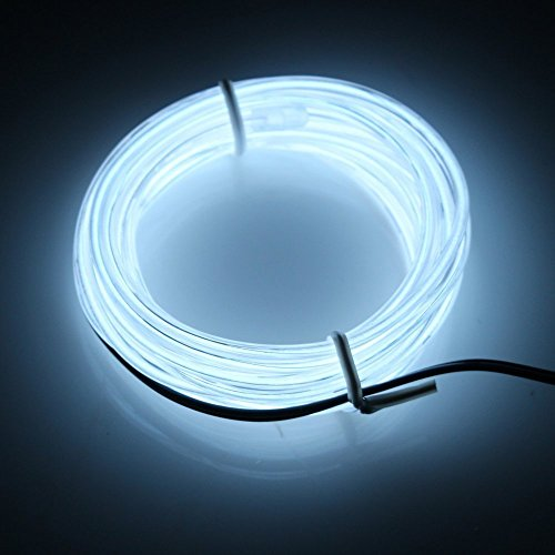 Cefrank 10ft 3m Neon Light El Wire with Battery Pack Neon Glowing Strobing Electroluminescent Wire (Diy Led Light Costume)