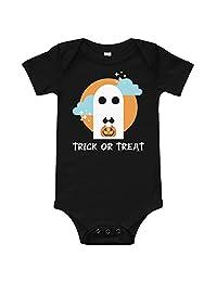 payatek Trick Or Treat Cute Ghost Baby Bodysuit Halloween T-Shirt Kids Children Costume