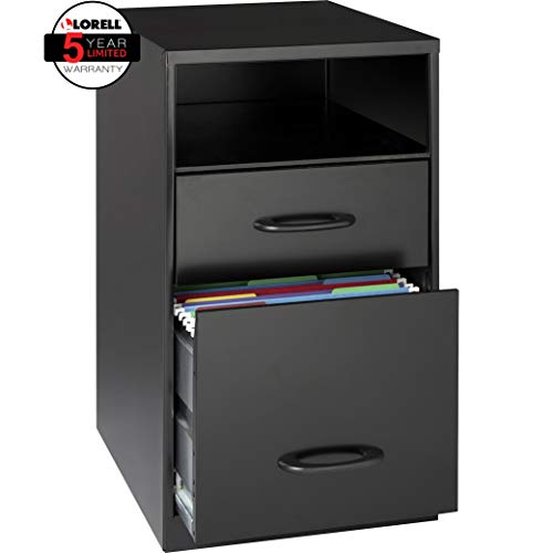 Lorell 18505 2-Drawer Mobile File Cabinet with Shelf, 18-Inch by Lorell (Image #2)