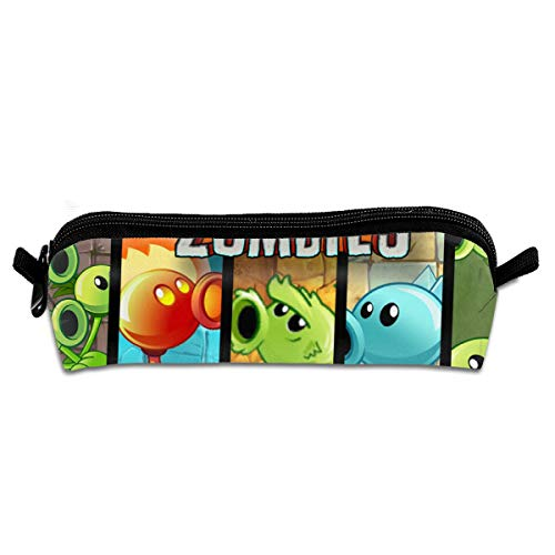 MAOHONGKO Plants and Zombies Fight Pencil Case Cosmetic Bag Pen Holder Stationery Bag]()