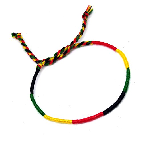 Hemp Cord Hippie (Friendship Rasta Cord Bracelet Plaid Hippie Cord Bracelet)