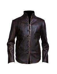 VearFit Vintage Rub Off Brown Shirt Look Stylish Designer Brown Real Leather Jacket for Men