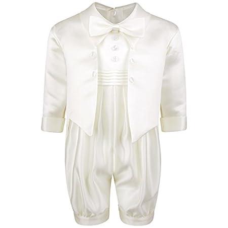 Freshbaffs Bañador para bebé de color blanco del botón color blanco y diseño de lazo y brillantes de cordones para las cortinas de bordado para parte delantera de felicitación para bautizo body blanco Talla:0-3months Freshbaffs®