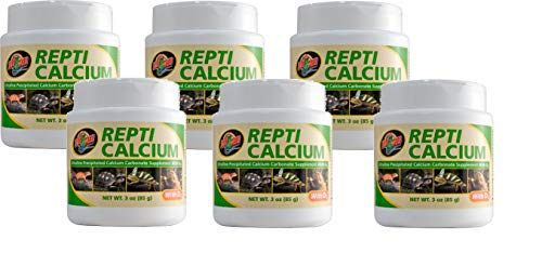 Zoo Med 6 Pack of Calcium with Vitamin D3 Reptile Supplement, 3 Ounces Each