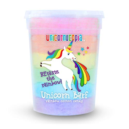 Unicorn Barf Cotton Candy - RAINBOW LAYERS- Unicorn Party Favors Supplies Birthday Treats for Kids & Adults - Funny Father's Day Gift