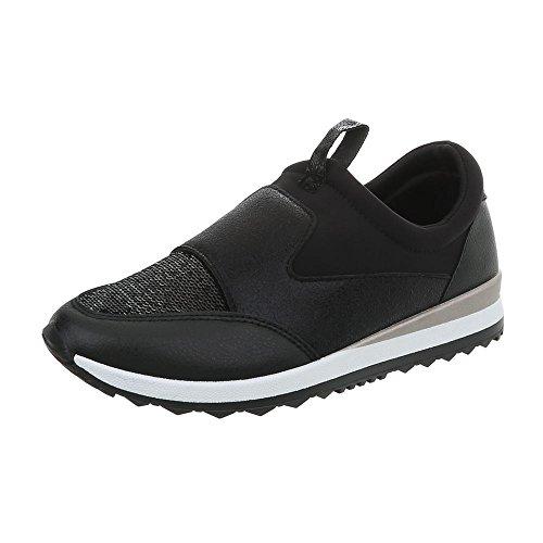 Low Donna Da Piatto Ital 145 Sneaker G Schwarz Scarpe design Sneakers xfqEta0