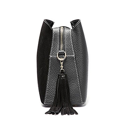 Mulier, Borsa a mano donna, Black (Nero) - HB-087-Black Black