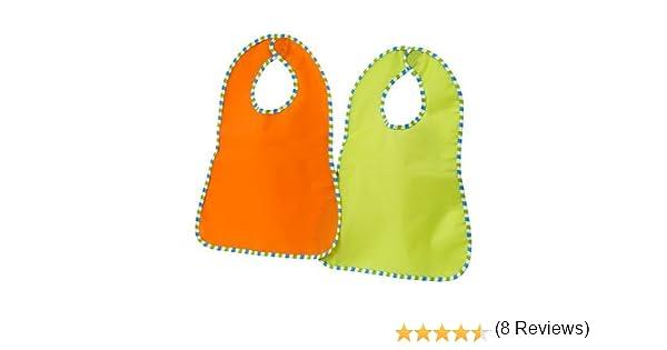 vert orange // pack 2 IKEA KLADD RANDIG Bib