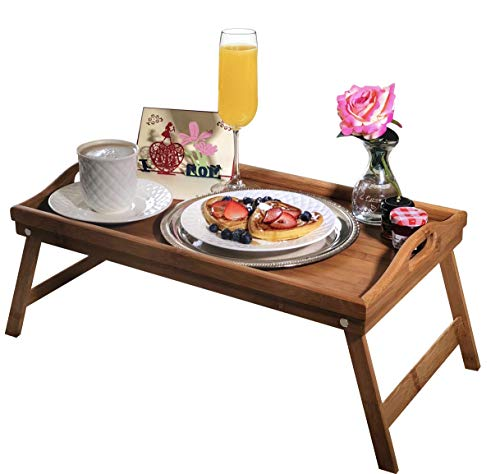 Breakfast in Bed Box for Mom | Includes Mother's Day Card and Bamboo Tray Table