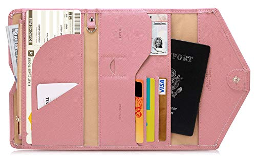 Lazoppent Passport Holder Travel Wallet Tri-fold Document Organizer Passport Cover Case by Lazoppent