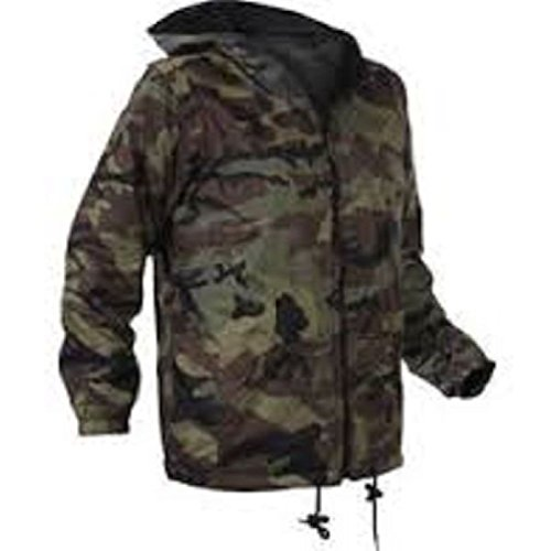 Bellawjace Clothing Comouflage Reversible Fleece Lined Jacket Military Hooded Nylon Coat