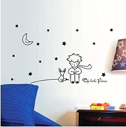 Wangyy Pegatinas De Pared Estrellas Luna El Principito Niño Rosa ...