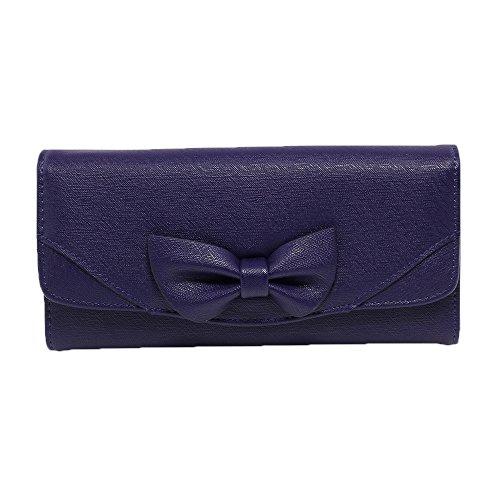 Frauen Trendstar Einem Der Querbinder Geldbeutel Damen Kunstleder Coin Geldtaschen Kreditkarteninhaber Mädchen Azul - azul marino