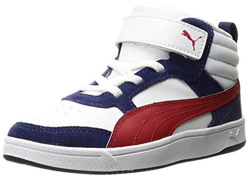 PUMA Baby Rebound Street v2 V Kids Sneaker, White-Toreador, 5 M US Toddler