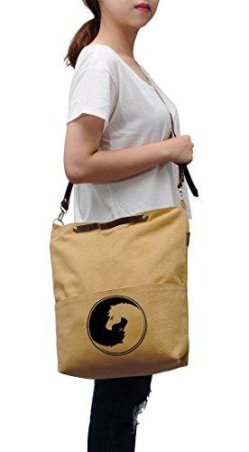 Print Unisex Yin WAS Yang Horse Canvas Vinyl Vietsbay Crossbody Bag 35 dCqxPYqB