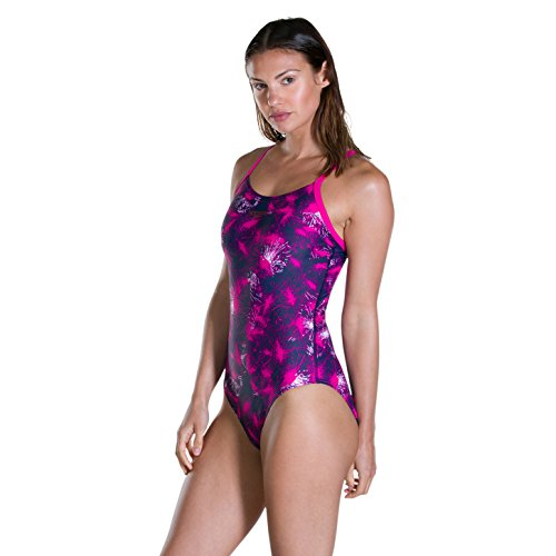 Strap Blast Navy electric white Allower Donna Swimsuit Muscle Back Speedo Thin Pink 34 Light nqFCWTwH