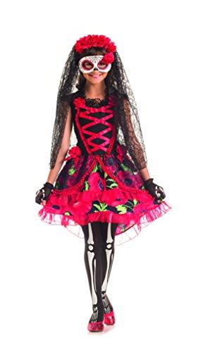 Day of the Dead Floral Senorita Kids Costume