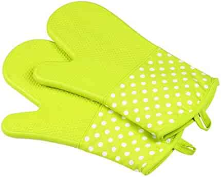 Lznlink 1Pcs Baking Gloves Silicone Thickening Non-slip Anti Scald Heat Resistant Glove Microwave Oven Kitchen Cooking Tools