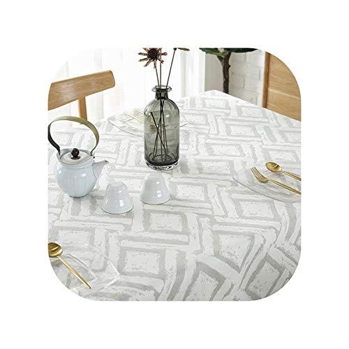 Tablecloths Tablecloth Cloth Tablecloths Fabric Restaurant Rectangular Table Clothes Modern Cotton Linen Table Cloth Table-Cloth,C6,140X220Cm