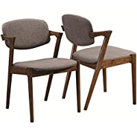 Coaster 105352 Home Furnishings Side Chair (Set of 2), Dark Walnut