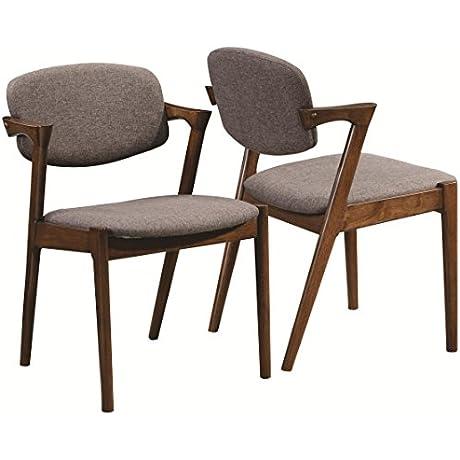 Coaster 105352 Home Furnishings Side Chair Set Of 2 Dark Walnut