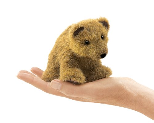 Folkmanis Woodland Finger Puppet, in Grizzly Bear