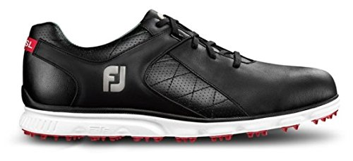 FootJoy Pro SL Spikeless Golf Shoe Black/White 13 Medium (Footjoy Golf Shoes Spikeless)