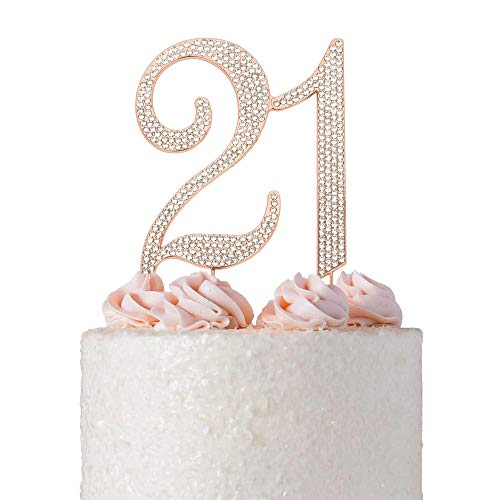 Cake Decorations Ideas - 21 ROSE GOLD Cake Topper |